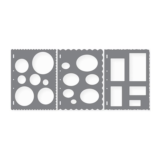 3 pack Shape Template