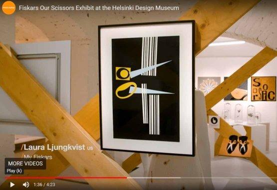 Fiskars Scissors Exhibit at the Helsinki Design Museum VIDEO