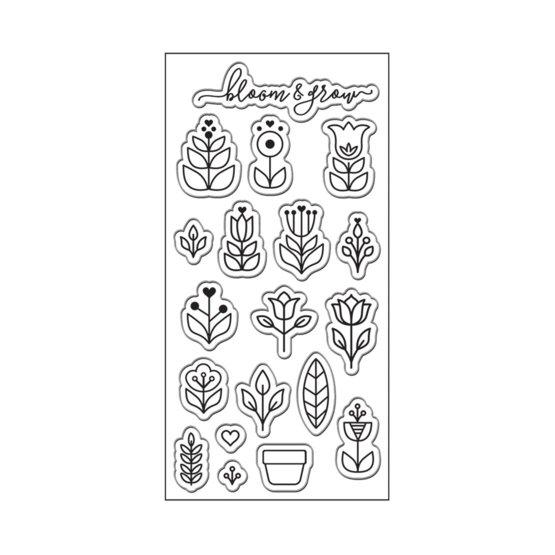 Lia Griffith® Designer 3x6 Stamps - Scandinavian Garden