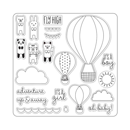 Lia Griffith® Designer 8x8 Stamps Oh Baby