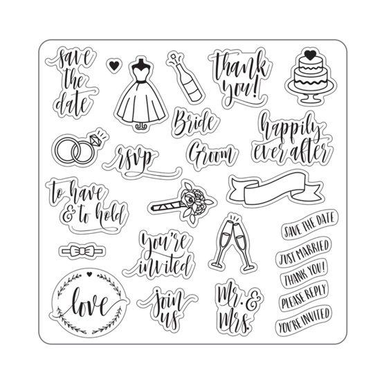 Lia Griffith® Designer 8x8 Stamps Wedding Day